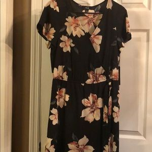 AGB faux wrap dress size M.High:low maxi dress